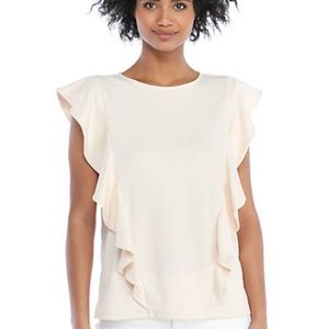 The Limited || Ruffle-Front Knit Top